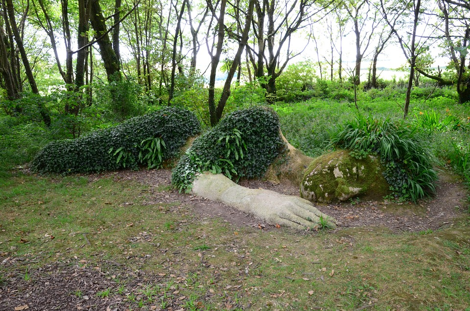 sleeping Gaia statue